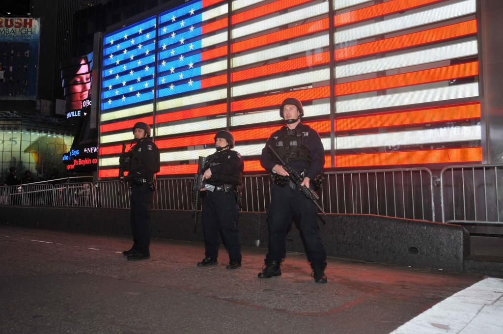 NYPD Emergency Service Officers in Times Square