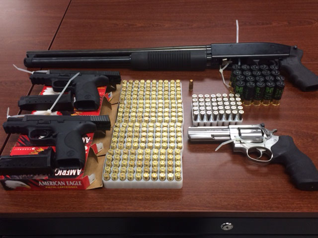 121 Pct Four Guns with Ammo