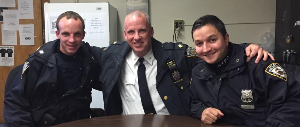 (L-R) Police Officer Lewis, Deputy Inspector Lewis, Police Officer Viglione