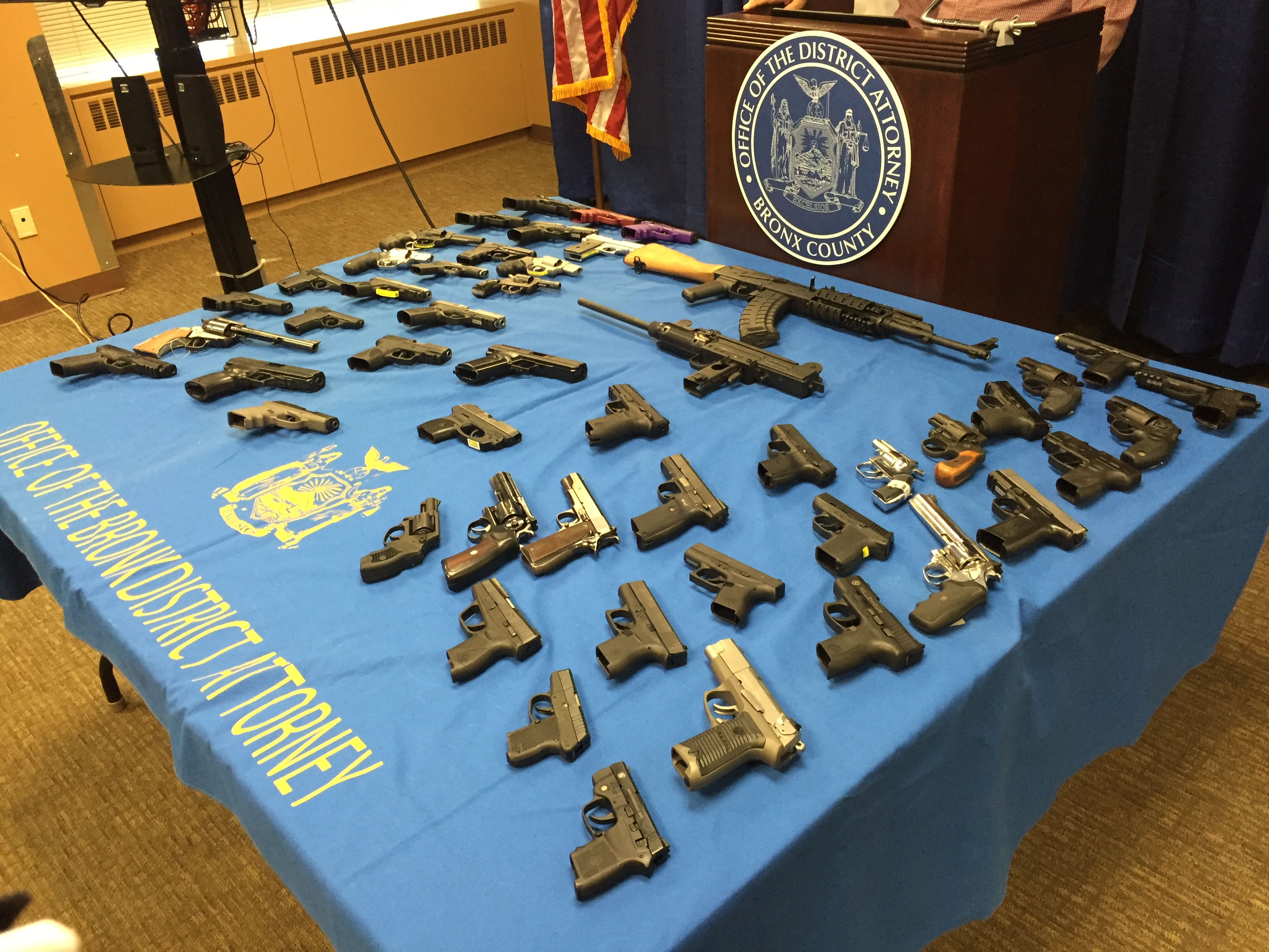 Bronx DA And NYPD Announce Takedown Of Gunrunners Who Sold 50