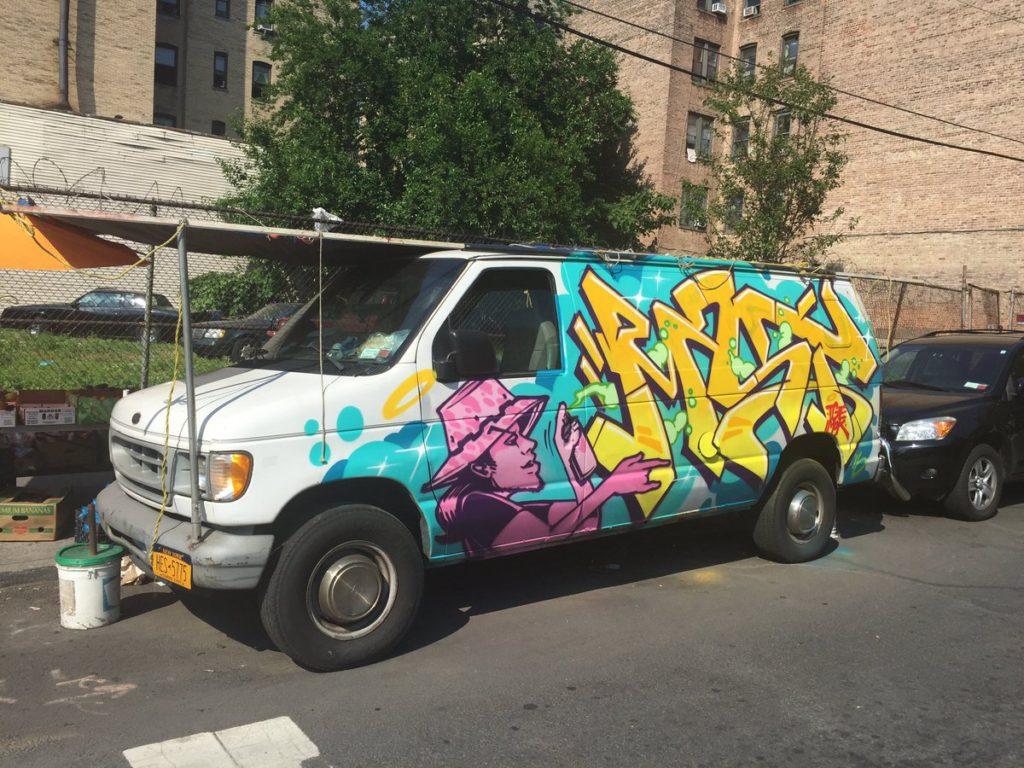 NCO Graffiti Van