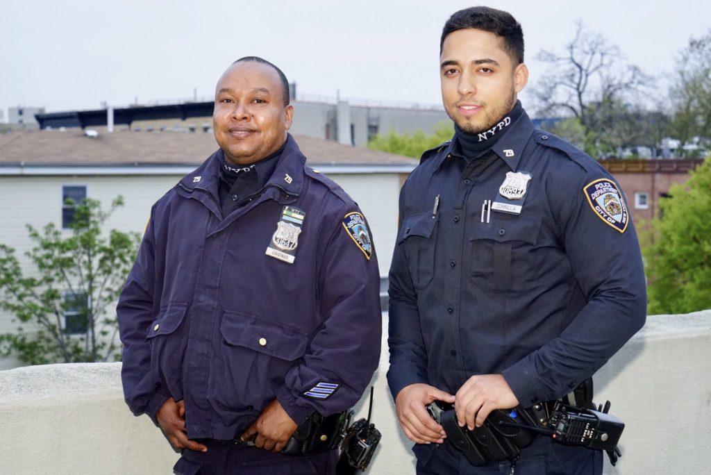Cops in uniform